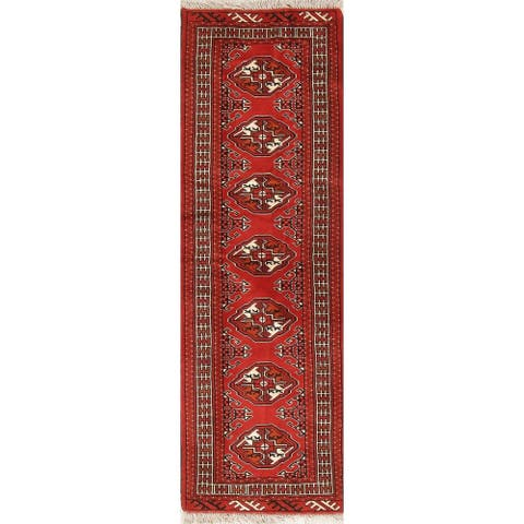 "Ine of a Kind Balouch Geometric Hand-Knotted Wool Persian Oriental Rug - 6'4"" x 2'2"" Runner"