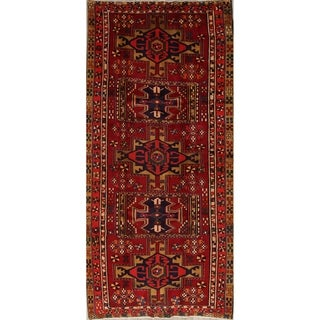 """One of a Kind Heriz Geometric Hand-Knotted Wool Persian Oriental Rug - 9'9"""" x 4'8"""" Runner"""