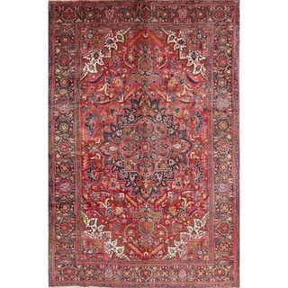 "Heriz Geometric Hand-Knotted Wool Persian Oriental Area Rug - 9'11"" x 6'7"""