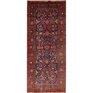 """Sultanabad All-Over Geometric Hand-Knotted Wool Persian Oriental Rug - 10'8"""" x 4'5"""" Runner"""