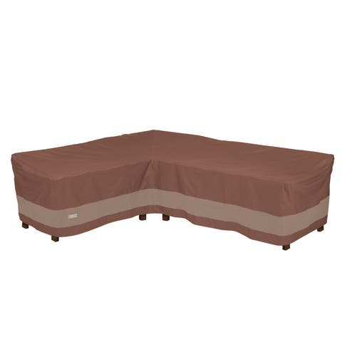 "Duck Covers Ultimate L-Shape Sectional Lounge Set Cover-Left - 85""L x 34"" D x 31"" H"