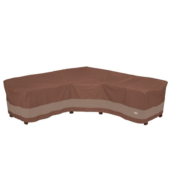Duck Covers Ultimate Waterproof 100 Inch V-Shape Sectional Lounge Set Cover. Opens flyout.