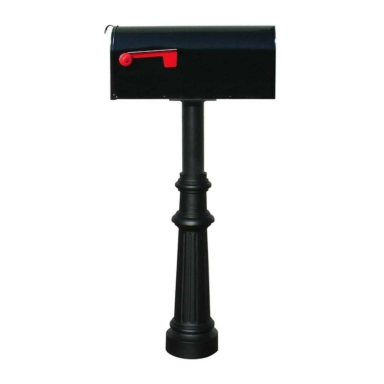 QualArc The Hanford Single Mailbox Post System Fluted Base 8 Single E1 Economy Rural Mailbox