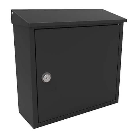 QualArc Allux 400 Top Loading Wall Mount Locking Mailbox in Black