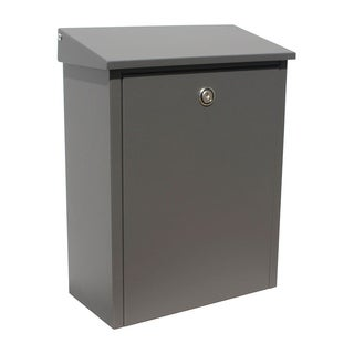 QualArc Allux 200 Series Wall Mount Top Loading Locking Mailbox in Gray