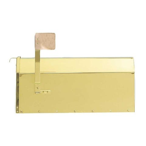 QualArc Provincial Collection Brass Mailbox (Rural) in Smooth Polished Brass