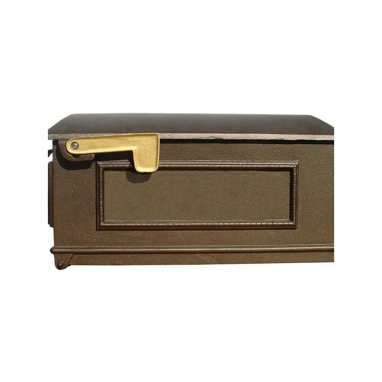 QualArc Lewiston Post Mount Decorative Mailbox Only, No Address Plates - Bronze