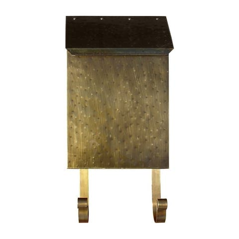 QualArc Provincial Collection Brass Mailbox (Vertical) in Antique Hammered Brass