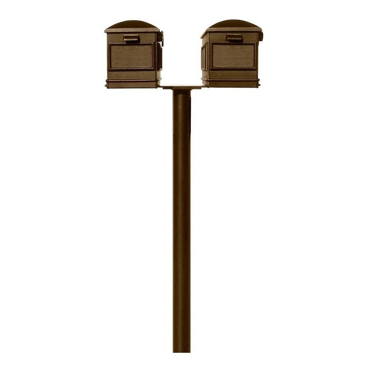 QualArc The Hanford Twin (No Scrolls) Lewiston Mailbox Post System No Support braces or Decorative Base