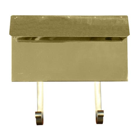 QualArc Provincial Collection Brass Mailbox (Horizontal) in Smooth Polished Brass