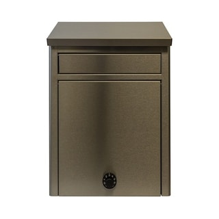 QualArc Kalos Stainless Steel Wall Mounted Mailbox with Combo Lock
