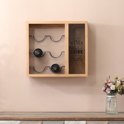 Wall Mounted Wine Bottle and Cork Holder