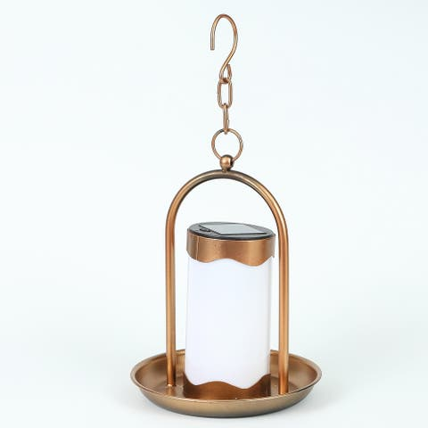 Hanging Copper Solar Light Lantern