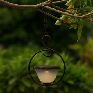 6.5in. Dia. Solar Hanging Accent Light with Scroll Design
