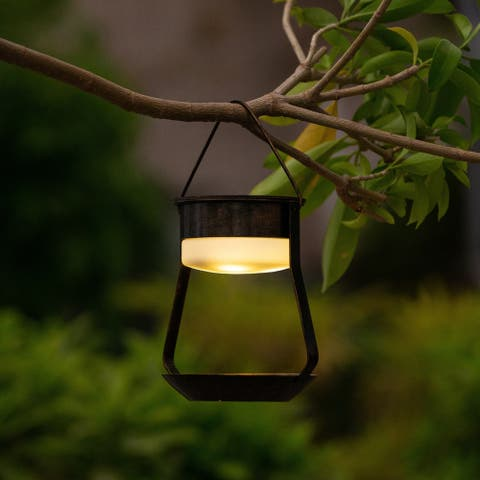 Solar Hanging Accent Light With Bronze Finish Base
