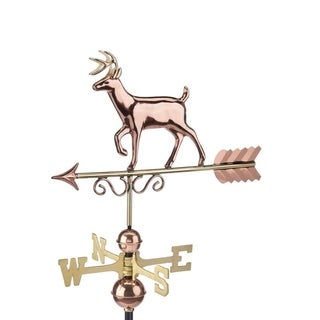 Proud Buck Weathervane - Pure Copper Hand Finished Bronze Patina by Good Directions (Copper)