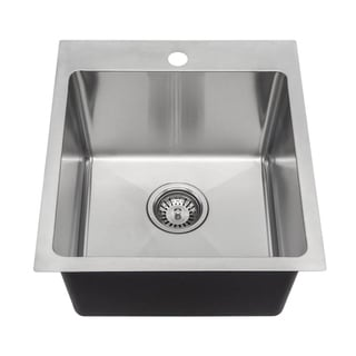 Link to MR Direct T1717 Topmount Single Bowl 3/4-Inch Radius Kitchen Sink Similar Items in Sinks
