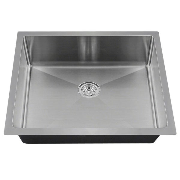 MR Direct ADA1823 Single Bowl 3/4-Inch Radius Stainless Steel Sink