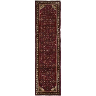 eCarpetGallery  Hand-knotted Hamadan Red Wool Rug - 2'6 x 9'5