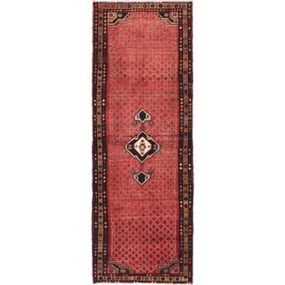 eCarpetGallery  Hand-knotted Hamadan Red Wool Rug - 3'5 x 9'7