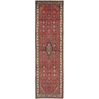 eCarpetGallery  Hand-knotted Hamadan Red Wool Rug - 3'1 x 11'1
