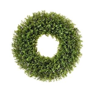 "Spring Boxwood Wreath 21"" - Plastic"
