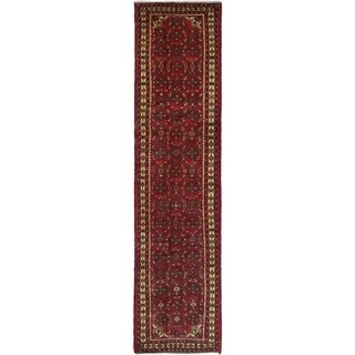 eCarpetGallery  Hand-knotted Hosseinabad Red Wool Rug - 2'6 x 9'9