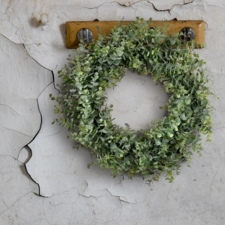 "Link to Frosted Eucalyptus Wreath 20"" - Plastic (Light Green) Similar Items in Decorative Accessories"
