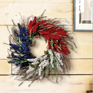 "Americana Atsilbe Wreath 24"" (Red White Blue)"