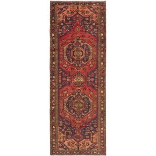 eCarpetGallery  Hand-knotted Nahavand Red Wool Rug - 3'8 x 10'1