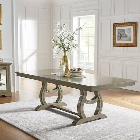 The Gray Barn Camilla Trestle Base Extending Dining Table