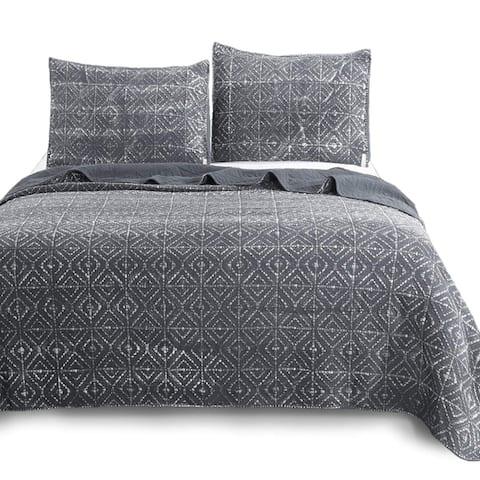 Kasentex Ultra Soft Stone-Washed Quilt Set Cotton