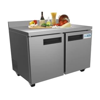 KoolMore 48-Inch 2 Door Stainless Steel Worktop Commercial Freezer 12 cu. ft.