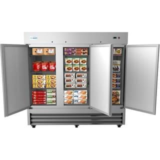 KoolMore 81-Inch 3 Door Stainless Steel Reach in Commercial Freezer 72 cu. ft.