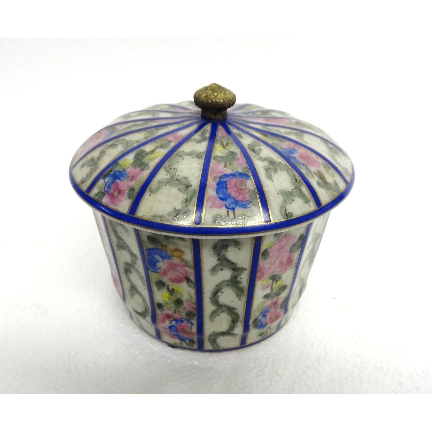 Trellis Ettiene Round Porcelain Cover Jar