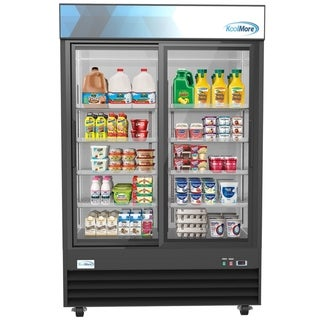 "KoolMore 53 1/8"" Commercial 2 Glass  Door Display Refrigerator Merchandiser - 45 Cu. Ft."