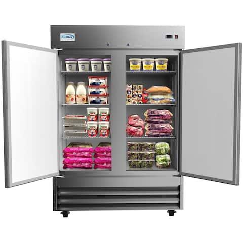 KoolMore 54-Inch 2 Door Stainless Steel Reach in Commercial Refrigerator 47 cu. ft.