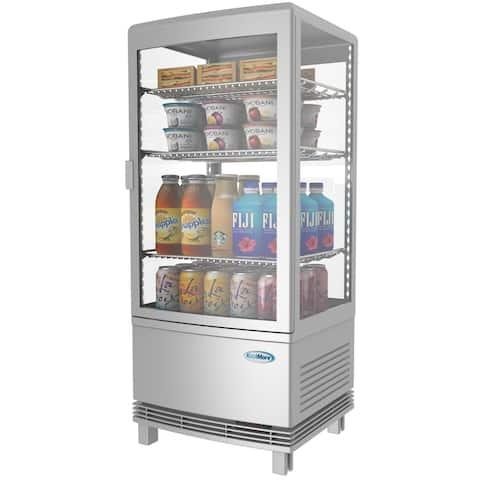 KoolMore Countertop Commercial Refrigerator Display Case - 3 cu. ft - Silver