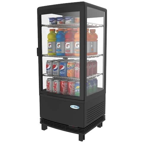 KoolMore Commercial Countertop Refrigerator Display Case - 3 cu.ft -Black