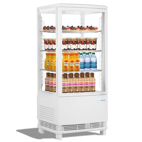 KoolMore Countertop Commercial Refrigerator Display Case - 3 cu. ft -White