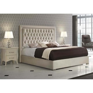 Luca Home Ivory Storage Queen Bed