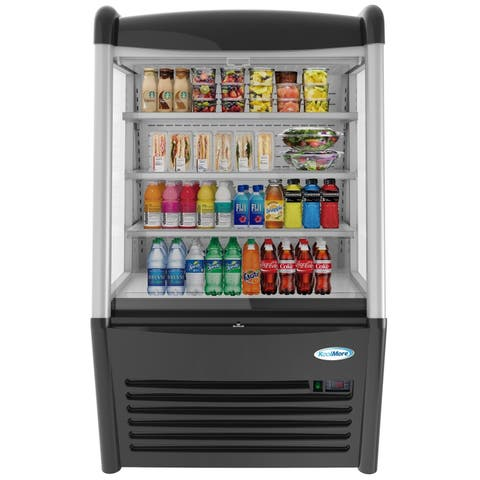 """KoolMore 36"""" Open Air Merchandiser Grab and Go Refrigerator with LED Lighting - 13.7 cu.ft."""