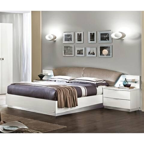 Luca Home Wanda Queen White Bed
