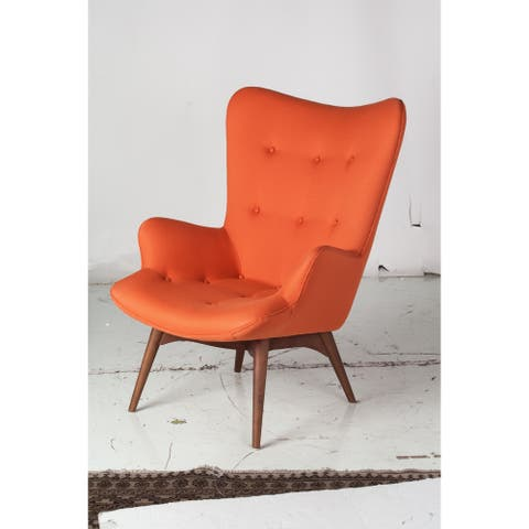 Aussie Contour Lounge Chair in Orange