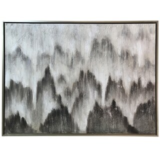 Textured Hand Painted Wall Art on Framed Canvas