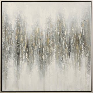Strick & Bolton Hand-painted Light Grey Abstract Wall Art