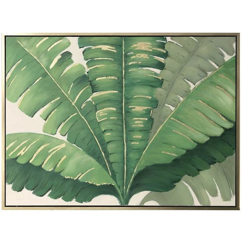 Carson Carrington Hand-painted Palm Fronds Wall Art