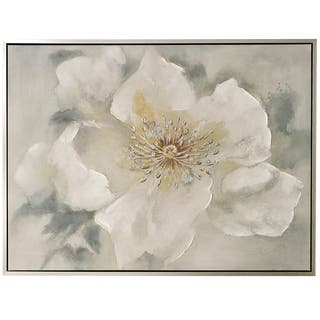 Silver Orchid Hand-painted Single Large Bloom Wall Art