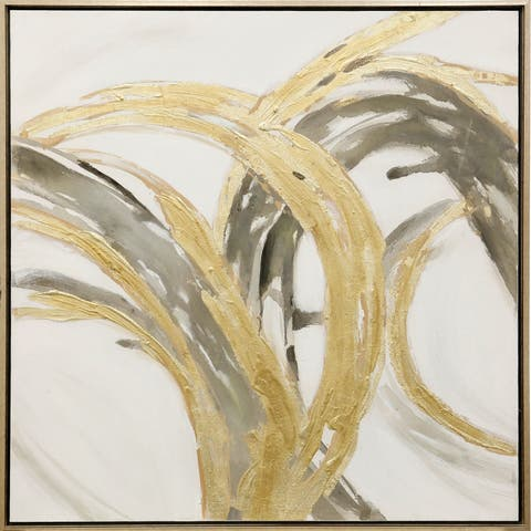 Strick & Bolton Embellished Gold Abstract Wall Art