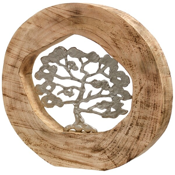 Awesome Native Carvings Round Carved Natural Wood Table Top Sculpture With Silver Tree In Open Center Download Free Architecture Designs Scobabritishbridgeorg